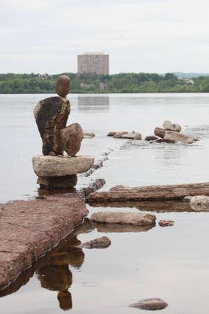 Rock statue Banco de Imagens