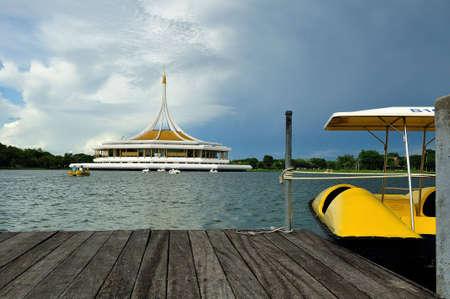 rama: Harbour of Suan Luang Rama 9 Stock Photo