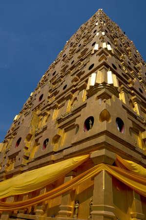 gaya: Bodh Gaya pagoda Sangkhlaburi Stock Photo