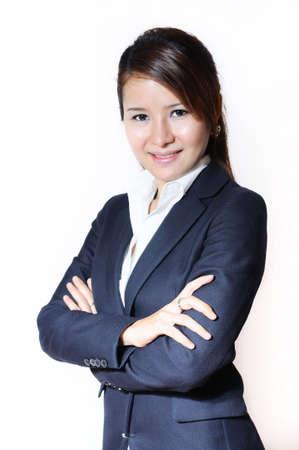 Portrait of positive business woman Banco de Imagens - 8086506