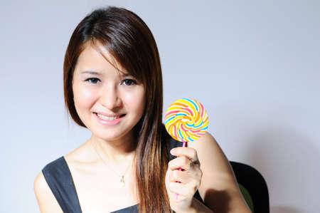 girl with lollipop photo