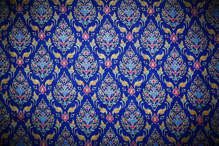 Pattern style Thai Silk culter the north of Thailand. photo