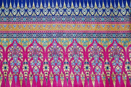 thai silk: Pattern style Thai Silk culter the north of Thailand. Stock Photo