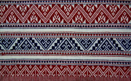 thailand fabrics: Pattern style Thai Silk culter the north of Thailand. Stock Photo
