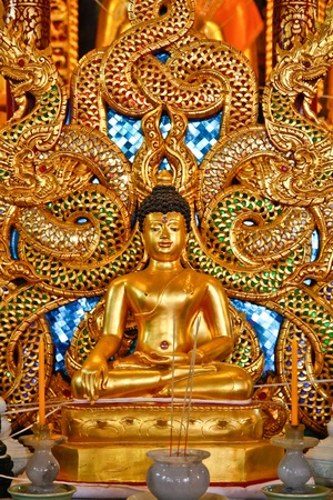 Golden buddha statue in north of thailand. Stock Photo - 8846503