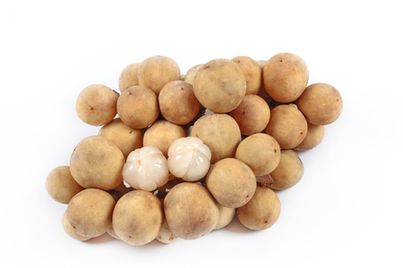 reduces: Long-kong Thai fruit has sweet mix sour on white background.