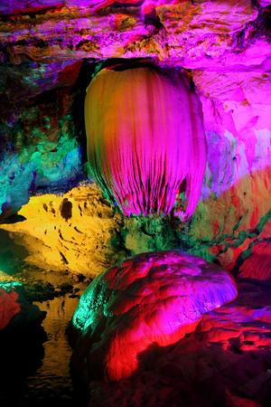 beatiful: Colorful and beatiful refection of pool in Paya Dragon Cave ,LongWangTong ,Hunan ,China