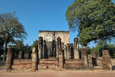 Wat Si Chum in Sukhothai Historical Park, Thailand Stock Photo