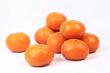 Golden orange on white background, to celebrate the blessing. According to the beliefs of the in China. To give life and trade flourished.