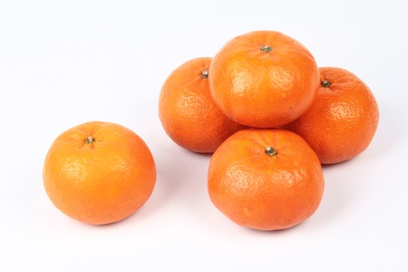 asian ancestry: Golden orange on white background, to celebrate the blessing. According to the beliefs of the in China. To give life and trade flourished.