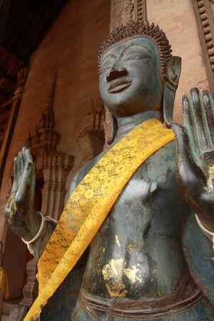 Buddha of Lao temple photo