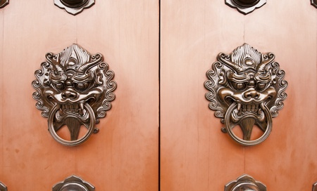 Chinese-style door handles  photo