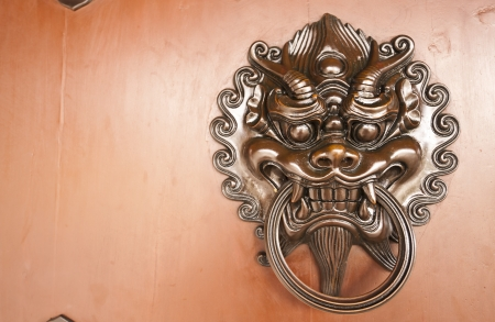 Chinese-style door handle  photo
