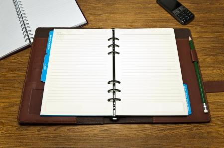 meeting agenda: Planner Stock Photo