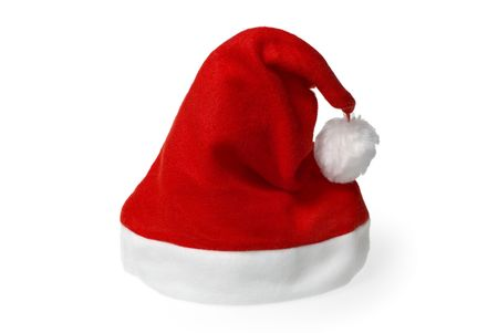 Red Santa hat isolated on pure white background Stock Photo - 3937174
