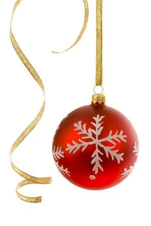 vergezeld: Rode narrenscepter op wit, vergezeld door enkele krullende gouden lint