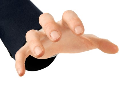 A male hand reaches greedily for something. Suitable for use in combination with any other object. Stock Photo - 4553208