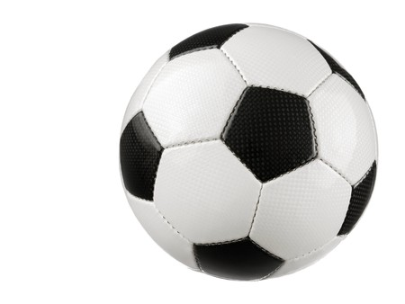 Studio shot of a typical Soccer ball isolated on pure white without shadow Stock Photo - 7055052