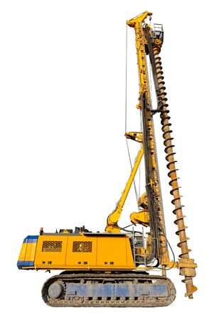 heavy equipment: Cut-out of a hydraulic drilling machine as used in the construction industry