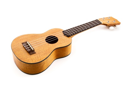 acoustic ukulele: Studio isolated shot of a nice Hawaiian ukulele  Stock Photo