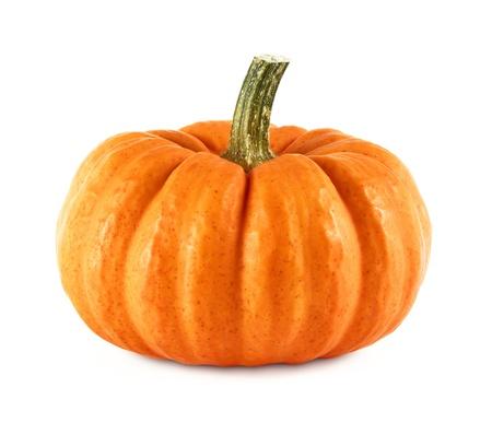 calabazas de halloween: Disparo de estudio de una calabaza ornamental Niza sobre fondo blanco puro Foto de archivo