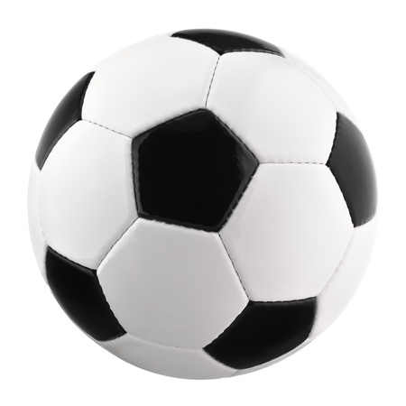 kick ball: Perfect Soccer ball or football, clean, bright studio isolation