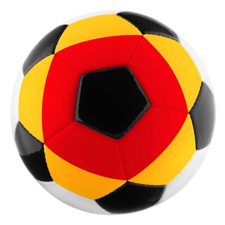 Soccer ball with flag design for Germany, isolated on white Stock Photo - 13913449