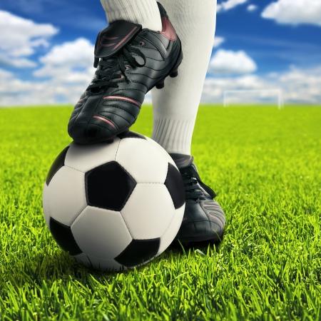football socks: Soccer player Stock Photo