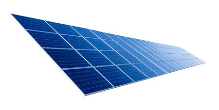 Large solar panel isolated on pure white background photo