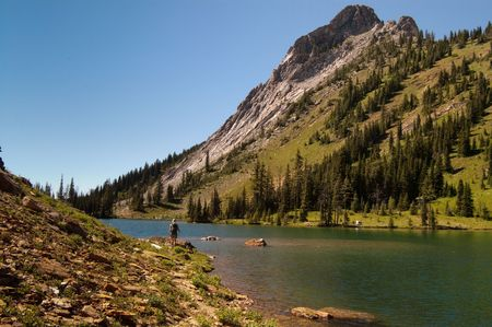 The hike around Bear Lake Stock Photo - 4796920