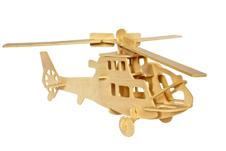 Helicopter wooden model