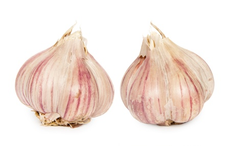 Garlic heads Stock Photo