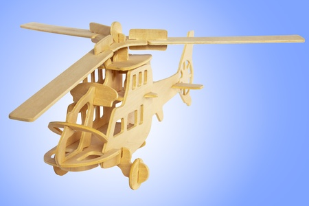 Wooden helicopter Stock Photo