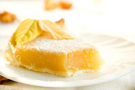 Lemon pie close-up