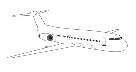 Vector illustration of passenger airplane