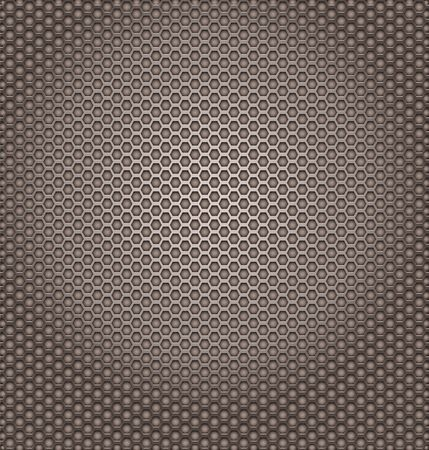 likeness: Perforated metal texture. Hexagon shapes