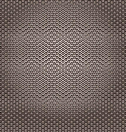 similarity: Perforated metal texture. Hexagon shapes