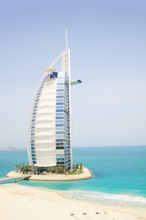 Luxury hotel on artificial island in Dubai, United Arab Emirates