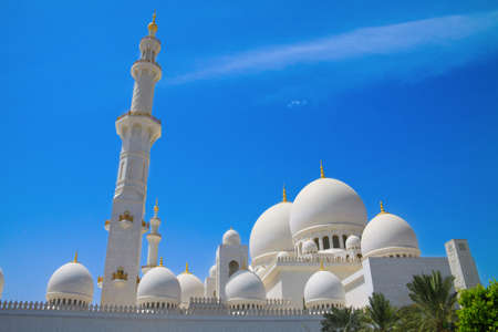 One of the biggest mosques in the world in Abu Dhabi, UAE photo