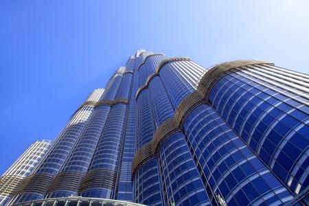 DUBAI, UAE - MAY 25: Burj Khalifa facade on May 25, 2011 in Dubai, UAE. Burj Khalifa is the highest  building in the world (828m). Located in Downtown Dubai, Sheikh Zayed Road.