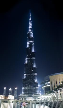 DUBAI, UAE - MAY 23: Burj Khalifa, worlds tallest tower ever built, located at Downtown, Burj Dubai at night May 23, 2011 in Dubai, United Arab Emirates Editorial