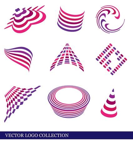Set of vector abstract logos. Stock Vector - 12218256