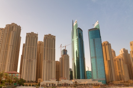 Jumeirah Beach Residence district with its skyscrapers