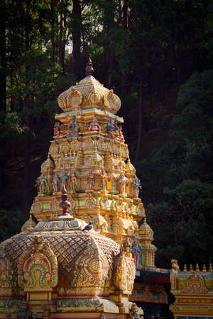 Facade of Hindu temple in Sri Lanka photo