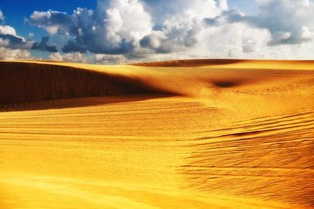 Image of a desert under cloudy sky  Soft focus filter Reklamní fotografie
