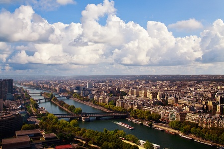 View of Paris from the Eiffel Tower Stock Photo - 13405204