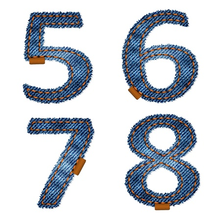 Denim numbers Vector