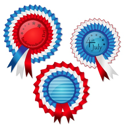 Award ribbon medals devoted to 4th of July Stock Vector - 13615620