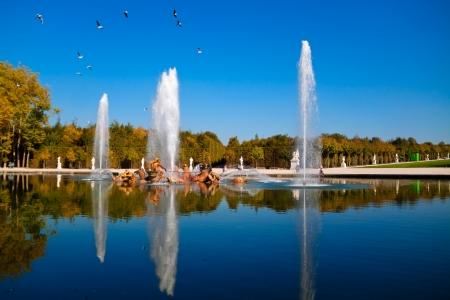 beauty fountain: The Apollo Fountain  Bassin d Stock Photo