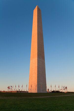Washington monument during sunset